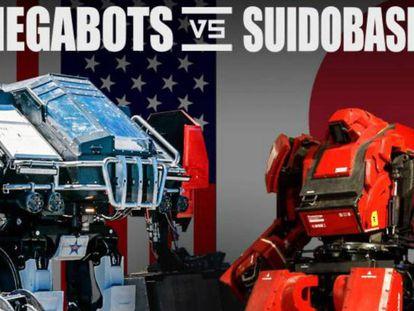 Imagem promocional do combate que se realiza nesta terça-feira entre os androides dos EUA e Japão.
