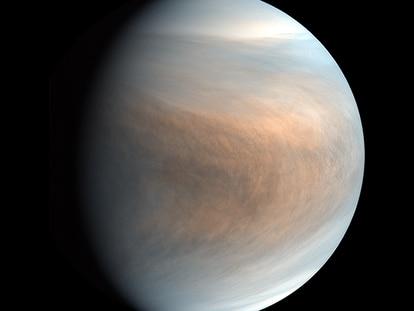 Imagem de Vênus feita pela sonda japonesa Akatsuki.