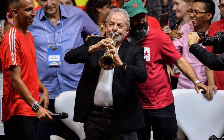 Lula em Congresso do PT.