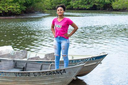 Lílian Santana, pescadora e coordenadora da Rede Mulheres de Campinhos.