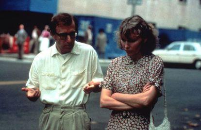 Fotograma do filme 'Hannah e suas irmãs', com Woody Allen e Mia Farrow.