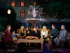 Los protagonistas de Friends, reunidos junto al presentador británico James Corden, a la izquierda.