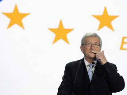 Jean-Claude Juncker nesta segunda-feira em Bruxelas.