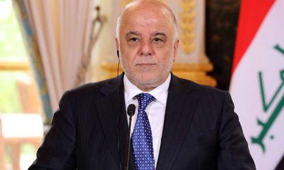 O primeiro-ministro iraquiano Haider al-Abadi em Paris. LUDOVIC MARIN