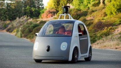 O Google Car idealizado por Brad Templeton. Tem autonomia de 161 quilômetros e velocidade máxima de 70 quilômetros por hora.