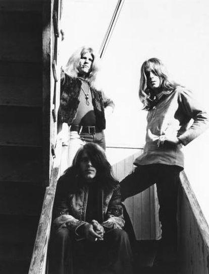 Os três membros da Blue Cheer (Dickie Peterson, Leigh Stephens e Paul Whaley) no fim dos anos sessenta.