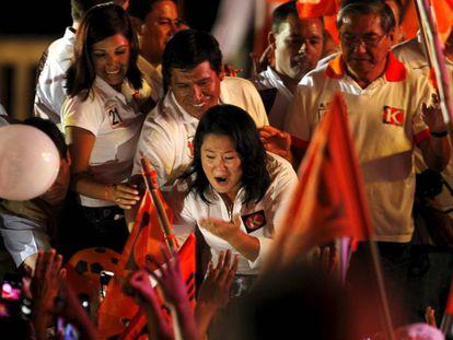 Keiko Fujimori, durante a campanha eleitoral.