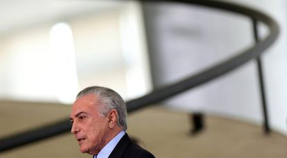 O presidente Temer no Palácio do Planalto.