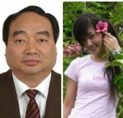 Lei Zhengfu, ex-secretário do Partido Comunista de um dos distritos de Chongqing e a jovem Zhao Hongxia.