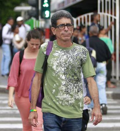 O ativista Francisco Rodríguez Cruz, em Havana.