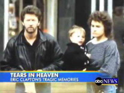 O canal norte-americano ABC faz uma reportagem sobre a famosa música, com uma imagem de Eric Clapton, Lory Del Santo e Conor.