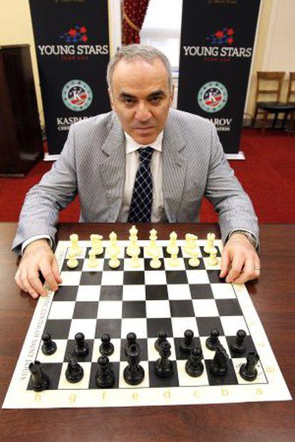 Garry Kasparov em congresso de xadrez realizado em junho em Washington.