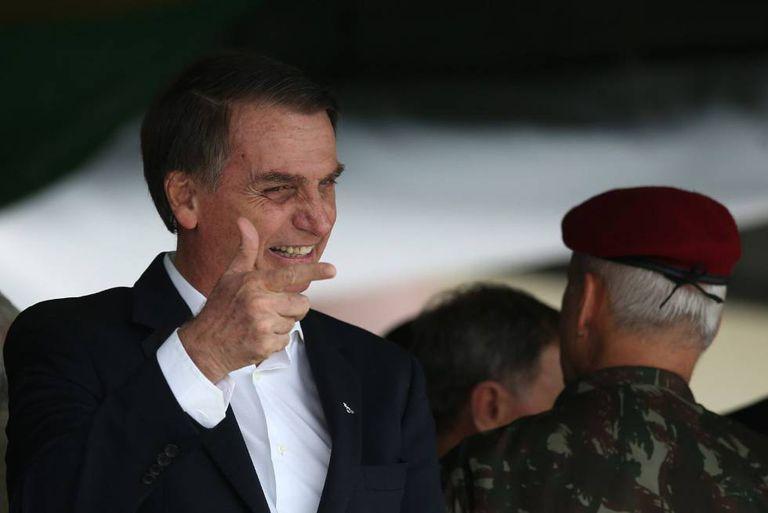 O presidente eleito, Jair Bolsonaro, em evento comemorativo da Brigada de Infantaria Paraquedista no Rio de Janeiro.