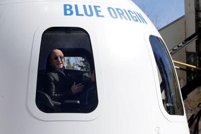 Jeff Bezos participa de um Congresso sobre o espaço no Colorado.