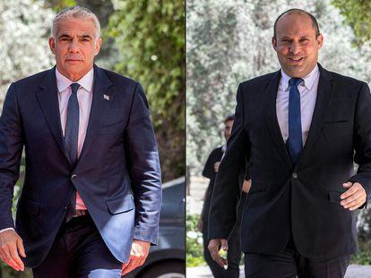 Yair Lapid, (esq.) e Naftali Bennett, em maio de 2021, em Jerusalém.
