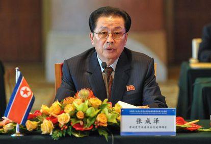 Jang Song-thaek durante um pronunciamento em agosto de 2012
