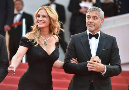 Julia Roberts com seu amigo George Clooney.