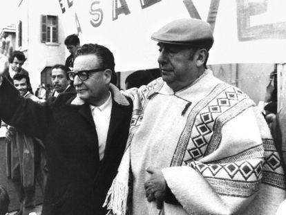 Salvador Allende e Pablo Neruda.