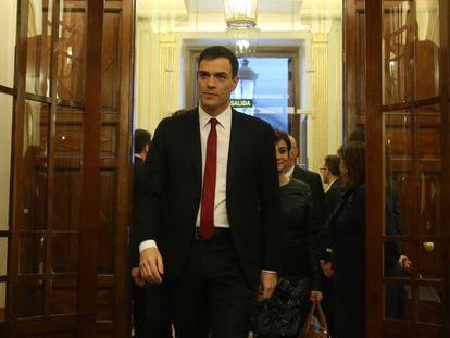 Pedro Sánchez, nesta sexta-feira, no Congresso.