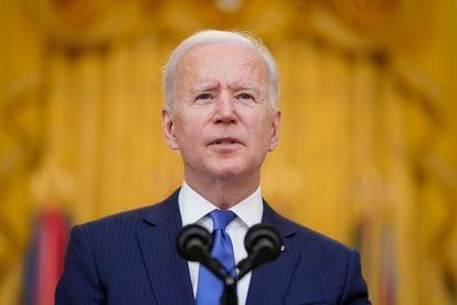 Joe Biden durante seu discurso em cerimônia pelo Dia Internacional da Mulher, na segunda-feira, 8 de março.