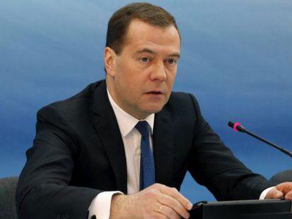 O primeiro-ministro russo, Dmitri Medvedev, em março. / D. Astakhov / R. Novosti (EFE)