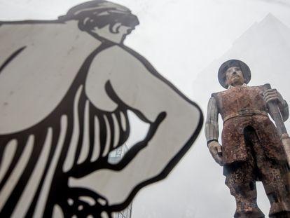 Vista da obra do escultor paulista Júlio Guerra construída entre 1957 e 1963 e que agora passa por um processo de ressignificação.