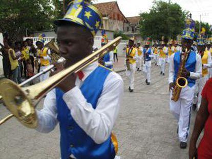 Celebração do dia da bandeira em Cabo Haitiano. / M.VICENT