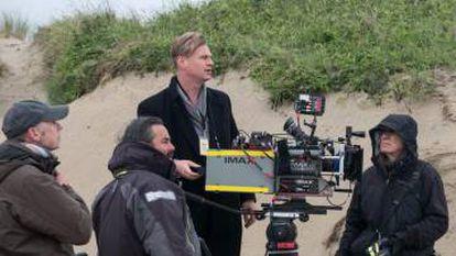 Nolan com uma câmera IMAX