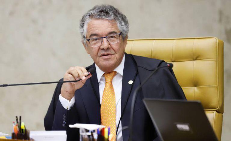 O ministro Marco Aurélio votou contra a prisão em segunda instância, na sessão desta quarta-feira no STF.