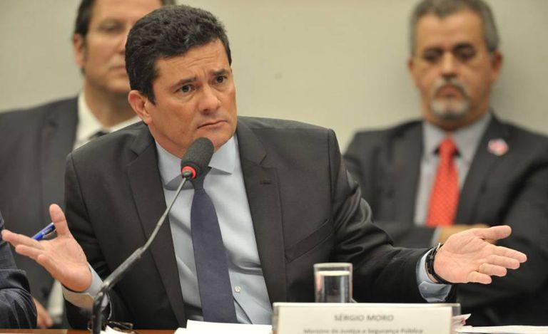 O ministro Sergio Moro, durante audiência pública na Câmara.