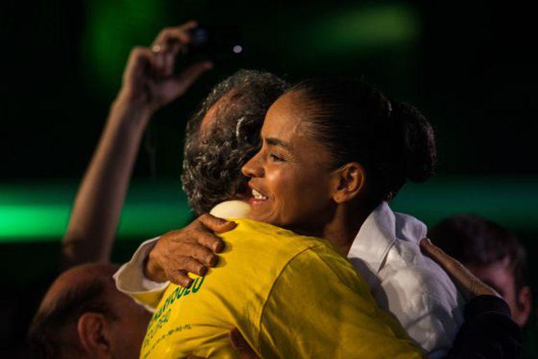Marina Silva este domingo em São Paulo.