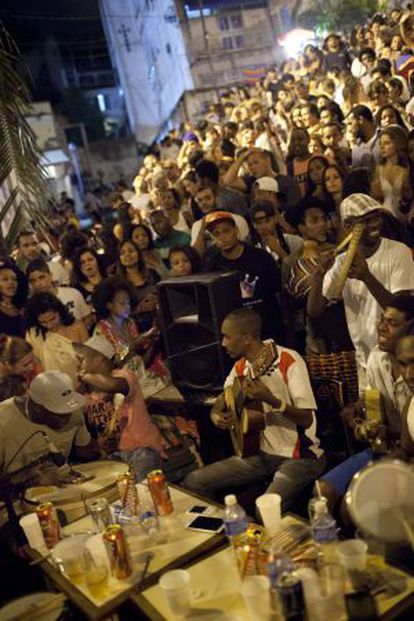 Samba na Pedra do Sal, no Rio de Janeiro.