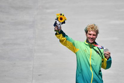 Pedro Barros, 26 anos, medalhista de prata no skate park.