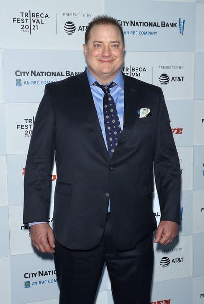 Brendan Fraser fotografado em junho de 2021 em Nova York.