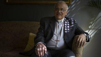 O cardeal Baltazar Porras, depois da entrevista