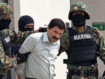 El 'Chapo' Guzmán, no dia em que foi detido no México.