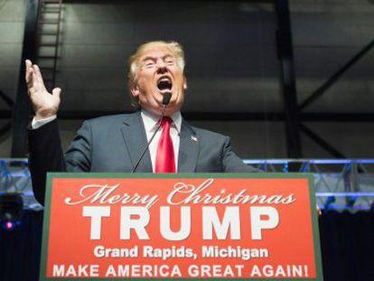 O candidato republicano norte-americano Donald Trump.