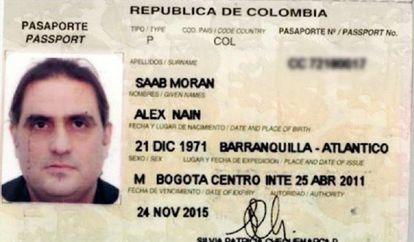 Imagem do passaporte de Alex Saab, empresário chavista detido em Cabo Verde