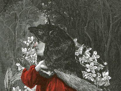 Ilustração para 'A Câmara Sangrenta', de Angela Carter, coletânea em que reescreve 10 contos de fadas de Charles Perrault.