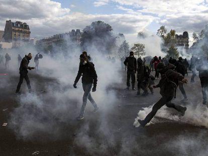 França: Manifestação contra a reforma trabalhista em Paris, nesta quinta-feira.