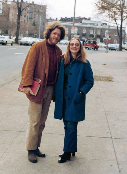 Bill e Hillary Clinton em Arkansas, nos anos sessenta.