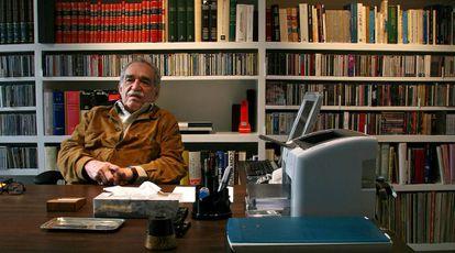 Gabriel García Márquez fotografado em sua casa da Cidade do México, em novembro de 2007