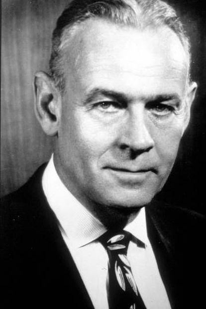 O empresário J. Howard Marshall, uma das grandes fortunas dos Estados Unidos.