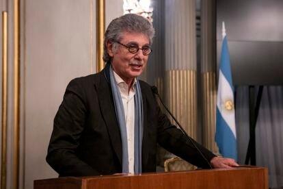 Hugo Sigman, durante uma cerimônia em Buenos Aires, em 2017.