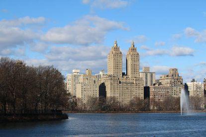 Vista da reserva Jacqueline Kennedy, no Central Park, em Manhattan.
