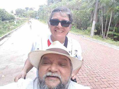 Darah e seu esposo Cláudio Cardoso.