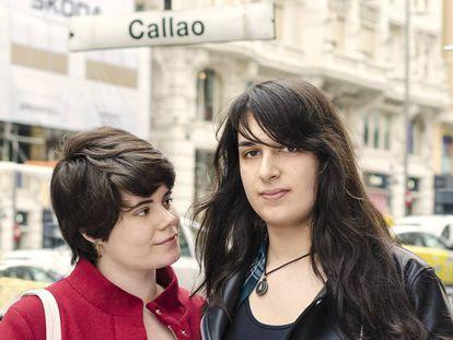 Sara Soler e Diana Franco, retratadas recentemente em Madri.