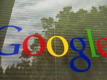 Logotipo do Google na sede do buscador em Mountain View.