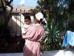 Una empleada del servicio doméstico en Casablanca.