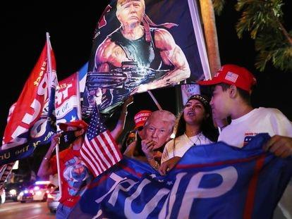 Simpatizantes de Trump em Miami, em 3 de novembro.